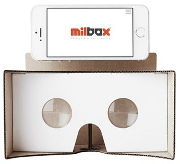 ダンボール製VR(バーチャルリアリティ)ゴーグルMilbox