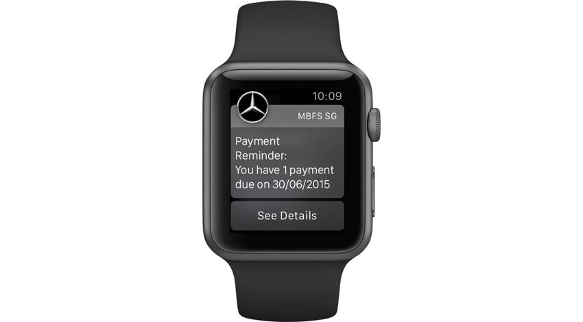 メルセデス・ベンツ・ファイナンシャルサービス・シンガポールが世界初のApple Watch互換アプリmyMBFSを公開