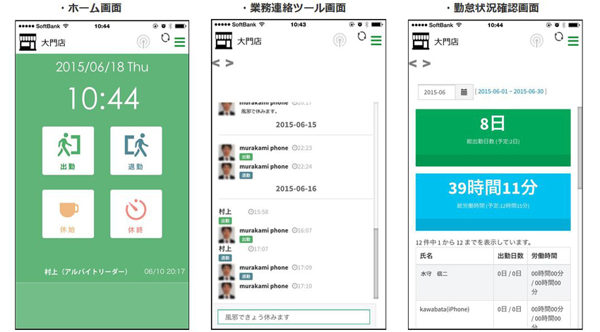 通信技術「iBeacon」を利用して、勤怠を管理するアプリ『 Work fun 』