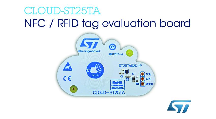 STマイクロエレクトロニクス、ウェアラブル、IoT、スマートシティなどの急成長分野で、NFC機能の導入を加速させる評価ボードを発表