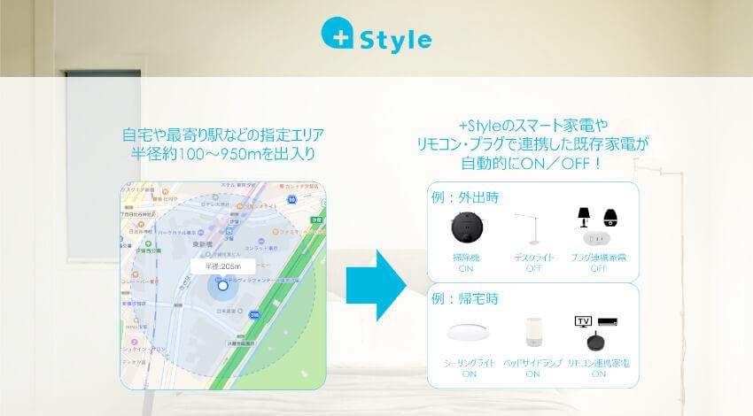 プラススタイル、位置情報と連動して家電が自動的に動作する「GPS連携」機能を提供開始